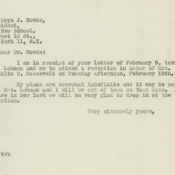Telegram : 1947 February 7