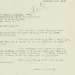 Manuscript : 1932 November 26