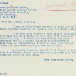Letter : 1940 January 6