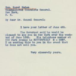 Letter : 1942 June 6