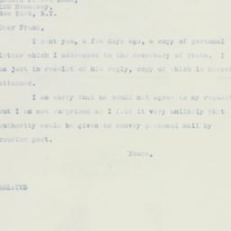 Letter : 1935 September 7