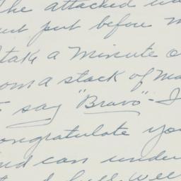 Letter : 1951 July 10