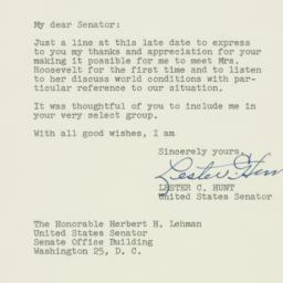 Letter : 1952 May 20