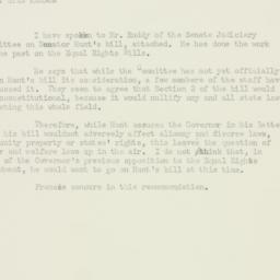 Memorandum : 1953 November 10