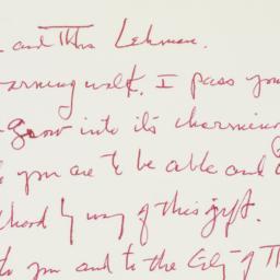 Letter: 1961 August 6
