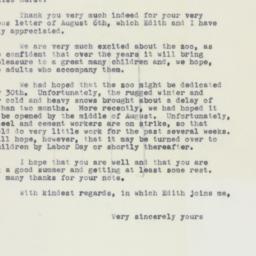 Letter : 1961 August 11