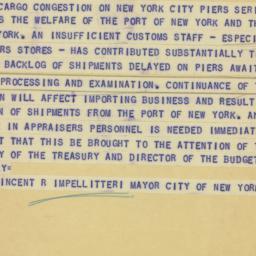Telegram : 1951 February 13
