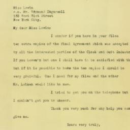 Letter : 1925 August 13
