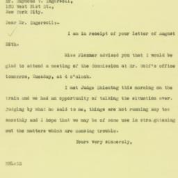 Letter: 1925 August 31