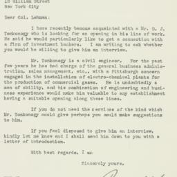 Letter: 1925 October 15