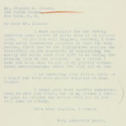 Letter : 1933 May 8