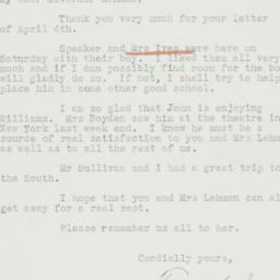 Letter : 1939 April 12