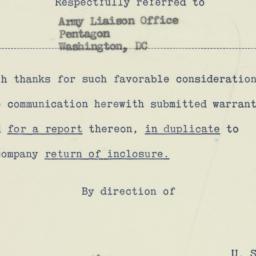 Memorandum : 1951 April 30