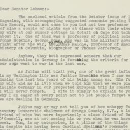 Letter : 1950 September 21
