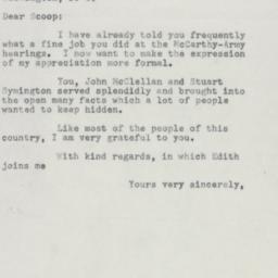 Letter : 1954 July 5
