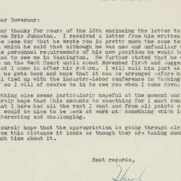 Letter : 1945 October 18