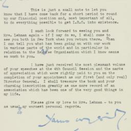 Letter: 1947 April 30