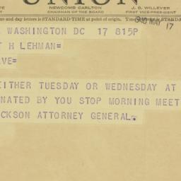 Telegram : 1940 May 17