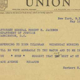 Telegram : 1940 May 18