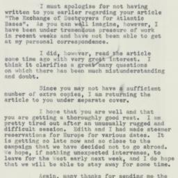 Letter : 1954 August 21