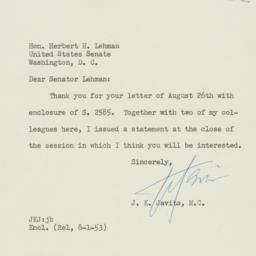 Letter : 1953 September 17