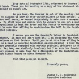 Letter : 1953 September 28