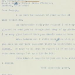 Letter : 1937 July 27