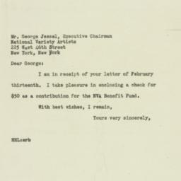 Letter : 1947 February 15