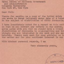 Letter: 1944 October 9