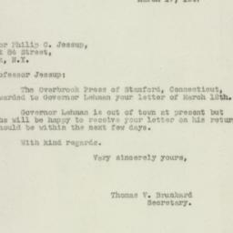 Letter : 1947 March 17