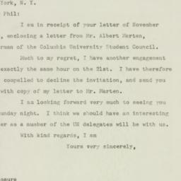 Letter: 1947 November 12