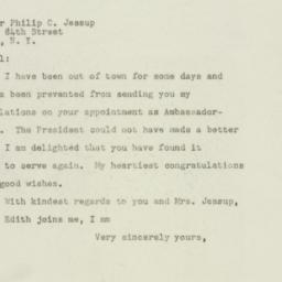 Letter: 1949 February 18