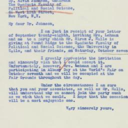 Letter : 1939 September 30