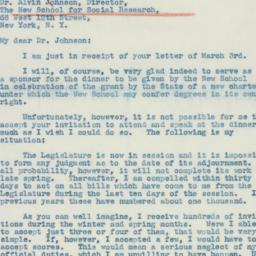 Letter: 1941 March 8