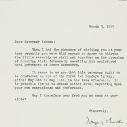 Letter : 1947 March 3