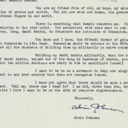 Letter : 1954 January 19