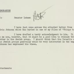 Memorandum : 1954 March 15