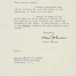 Letter : 1954 March 19