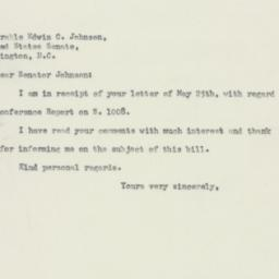 Letter : 1950 May 27