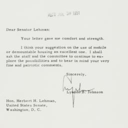 Letter : 1951 July 27