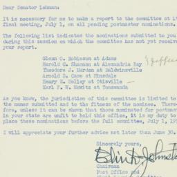 Letter : 1952 June 27