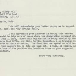 Letter : 1956 May 2