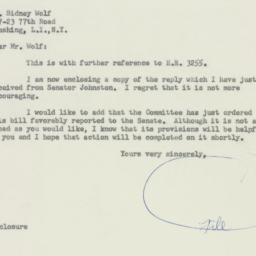 Letter : 1956 May 21