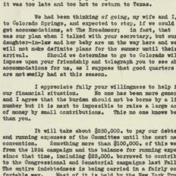 Letter : 1927 July 12