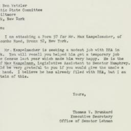 Letter : 1951 March 3