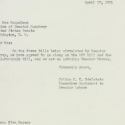 Letter : 1951 April 17