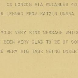 Telegram : 1945 September 14