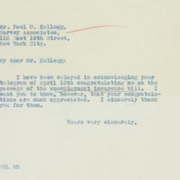 Letter : 1935 May 2