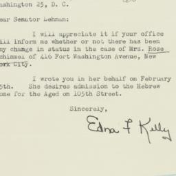 Letter : 1950 March 15