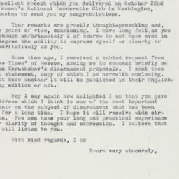 Letter : 1959 November 5